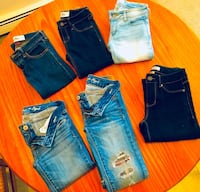 Lot of 6 gently/never worn  name brand Jeans Fairport, 14450