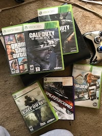 Xbox360 with games and controller