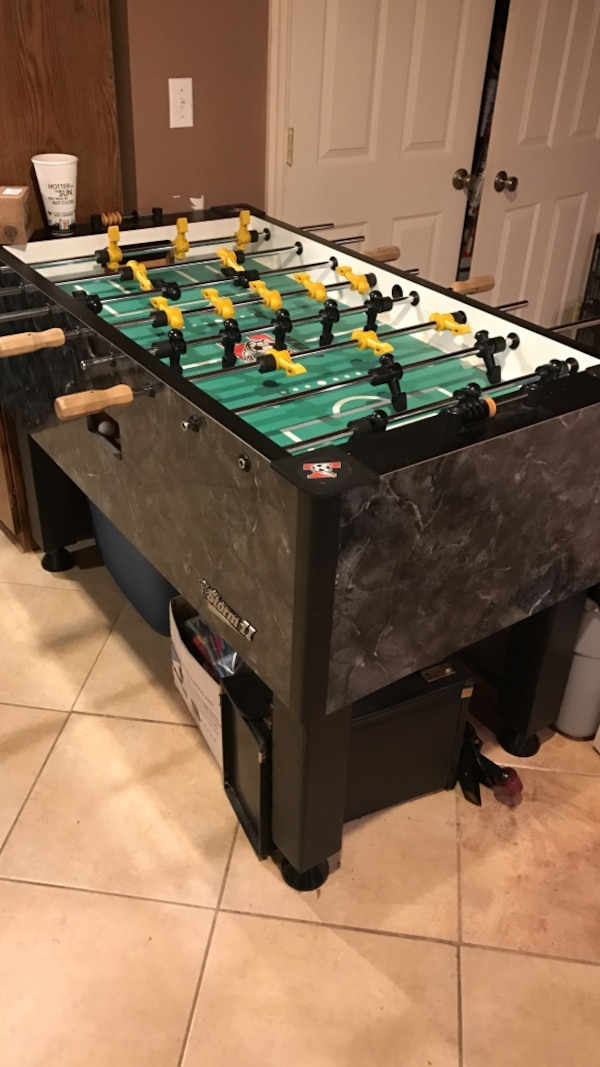 Used Black And Gray Wooden Foosball Table For Sale In