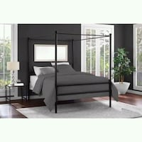 white and brown wooden bed frame Houston, 77092