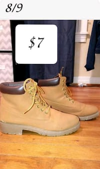 pair of brown Timberland work boots Amarillo, 79110