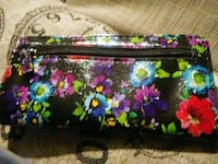 black and pink floral leather crossbody bag Houston, 77054