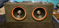 "2 x 10"" PYRAMID SUBWOOFERS IN PORTED BOX Kitchener, N2M 2G9"