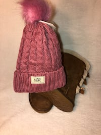 UGG Bailey Bow Tall Chestnut Size 7 Lake Shore