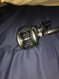 Silver and black fishing reel Rogers, 72758