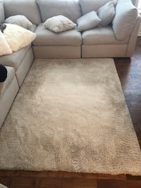 Off white plush rug  Ashburn
