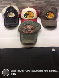 Bass PRO SHOPS-adjustable hats barely used 15$ each or 2-25$ London, N5W 1C7