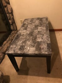 Coffee table + side table-faux marble,lightweight