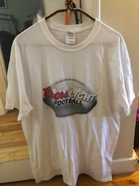 NEW- Coors Light Football  T- Shirt.