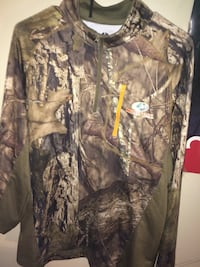 beige and brown reel tree camouflage half-zip jacket Greer, 29651