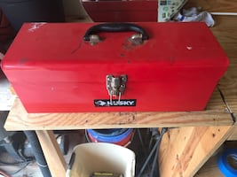 Husky tool box with tools included