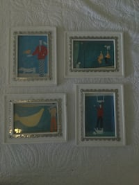 4 framed pictures used in boy nursery