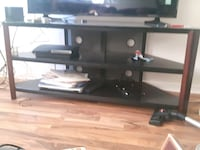 brown and black wooden TV rack Hawkesbury, K6A 2R2