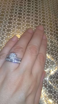 2 CARAT PLATINUM diamond ring set Atlanta