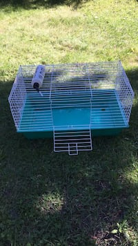 blue and white metal pet cage Whitehall, 49461
