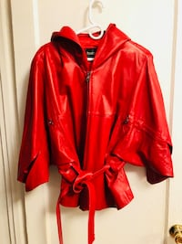 Red leather jacket New York, 11223