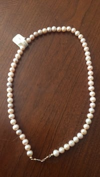 white pearl beaded necklace and earrings Georgetown, 40324