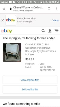 authentoc Chanel Perle Collection Brown Frames Springfield, 22151