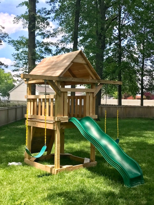 Used New Space Saver Swingset For Sale In Heath Letgo
