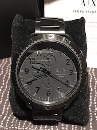 Armani Exchange Black Watch Markham, L3P