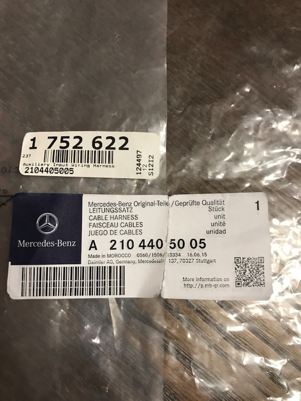 Brilliant Used Mercedes Genuine Oem Aux Wiring Cable W203 For Sale In Wiring Digital Resources Warobapapkbiperorg