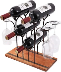 Wine Bottle and Wine Glass Holder Summerville