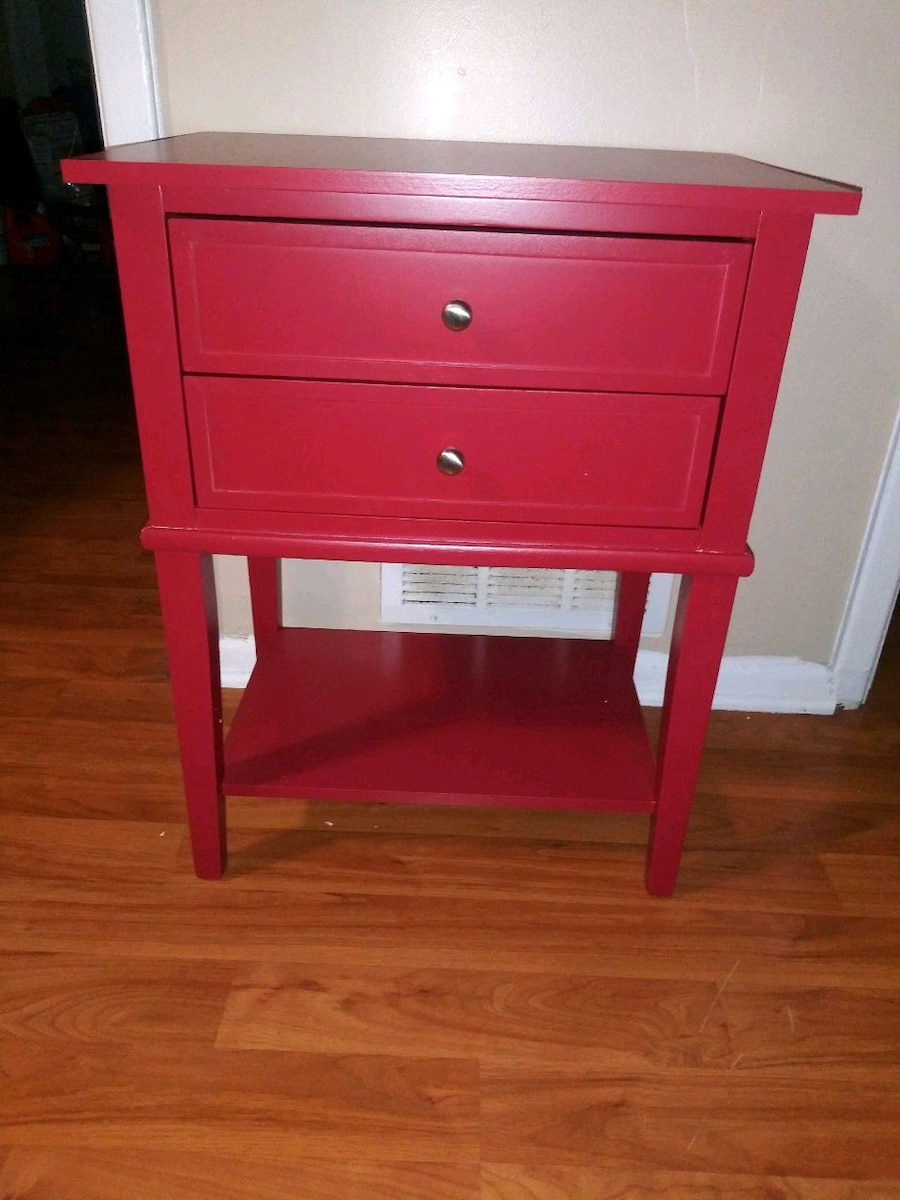 used two red side tables nightstands for sale in ellenwood letgo rh us letgo com