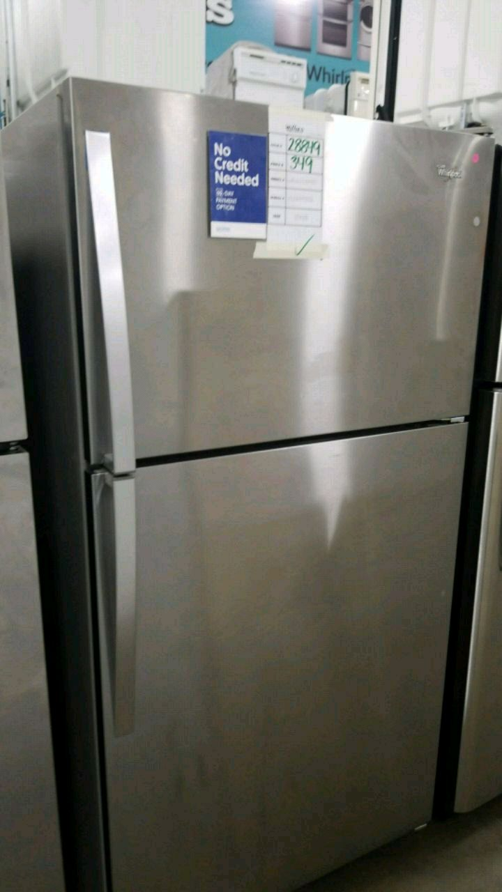 used whirlpool top mount stainless steel refrigerator for sale in rh tr letgo com