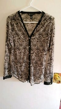 brown and black floral button-up cardigan Calgary, T2K 5S5