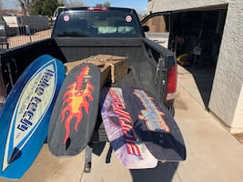 Wake Tech, O'Brien, Nash, and FullThrottle wakeboards (sold as set)