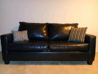 Black Leather Couch Cockeysville