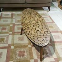 brown oval wooden table