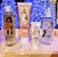 Vanilla & Champagne Scented Body Products
