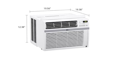 LG Window Air Conditioner w/ Heat Thermostat Control 8,000 BTU White