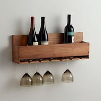 Crate and Barrel Wooden Wine and Stem Rack Virginia Beach, 23451