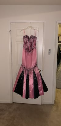 Pink and black sequin mermaid gown Alexandria, 22315