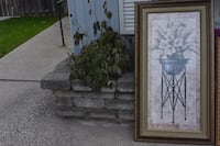 two brown wooden framed painting of flowers Ancaster, L9G 3X5