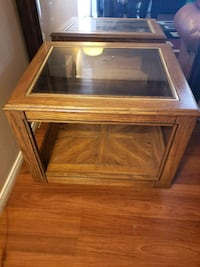 Wood coffee table with glass Carlsbad, 92011