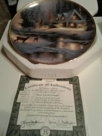 """""""Deer Creek Cottage"""" collectable plate  Reading, 19601"""