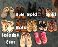 Toddler shoes price and sizes on pictures Odessa, 79762