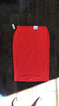 Red-Orange Pencil Skirt large New