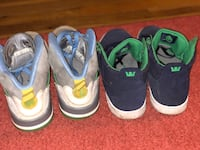 three pairs of Nike basketball shoes Wildwood, 63038
