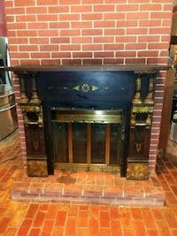 Antique cast iron mantel