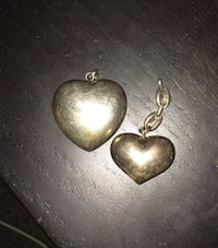 Multiple Heart Necklace Pendants