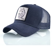 Wolf Embroidered Baseball Cap  Toronto, M6N