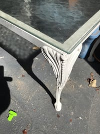 Small Wrought iron side table with glass top North Augusta, 29860