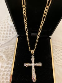 Yellow gold cross necklace Woodbridge, 22192