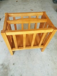 Wooden Mission Magazine Rack ***REDUCED*** Spring, 77386
