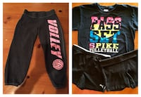 4 pieces: Girls sweats size 8/10... 2 pair Puma and Danskin shorts (youth 7/8) & 1 T-shirt youth L - Smoke free pet free home Port Saint Lucie, 34986