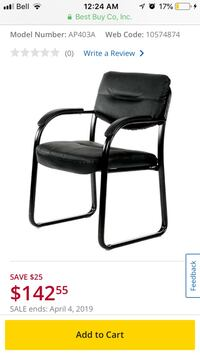 Nicer Furniture Leather Task chair - Black - Brand new in box South-West Oxford, N5C 3J7